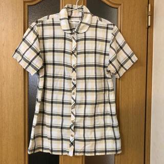 T'bis   studio   レディース 綿100%  半袖シャツ M〜L (シャツ/ブラウス(半袖/袖なし))