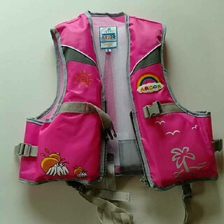 ②子供用ライフジャケット100cm〜120cm サイズM(ウエア)