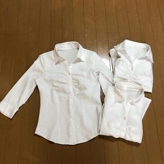 7分袖 Yシャツ(オープンシャツ) 3着セット
