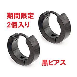☆2個入り☆黒 オールステンレス ピアス (ピアス)