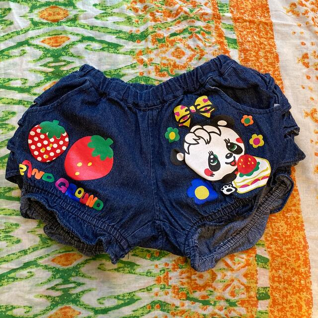GrandGround(グラグラ)のグラグラ フリフリカボチャパンツ 120 キッズ/ベビー/マタニティのキッズ服女の子用(90cm~)(パンツ/スパッツ)の商品写真