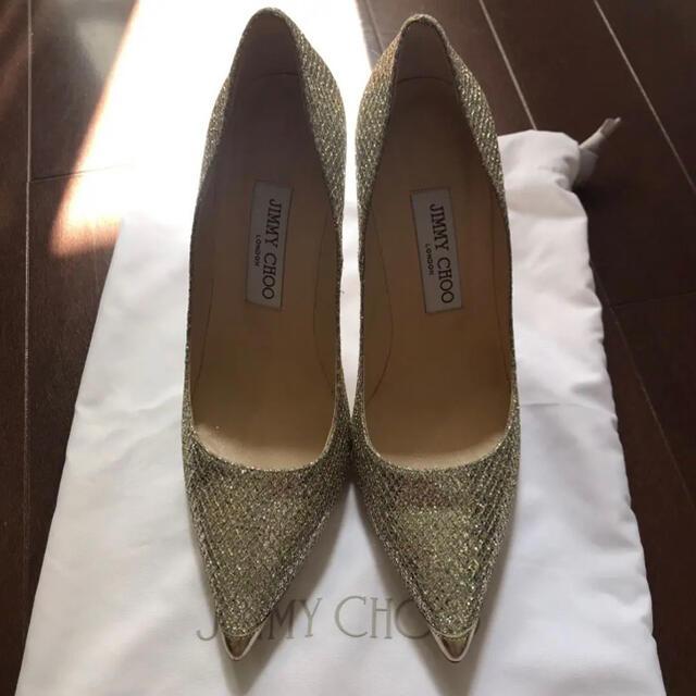 JIMMY CHOO(ジミーチュウ)のJIMMY CHOO グリッター パンプス レディースの靴/シューズ(ハイヒール/パンプス)の商品写真