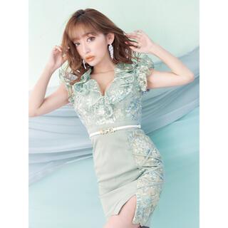 JEWELS - Jewels  スパンコールフラワー刺繍ドレス
