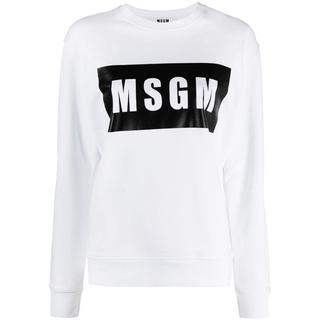 エムエスジイエム(MSGM)のMSGM Box ロゴ スウェットシャツ トレーナー(トレーナー/スウェット)
