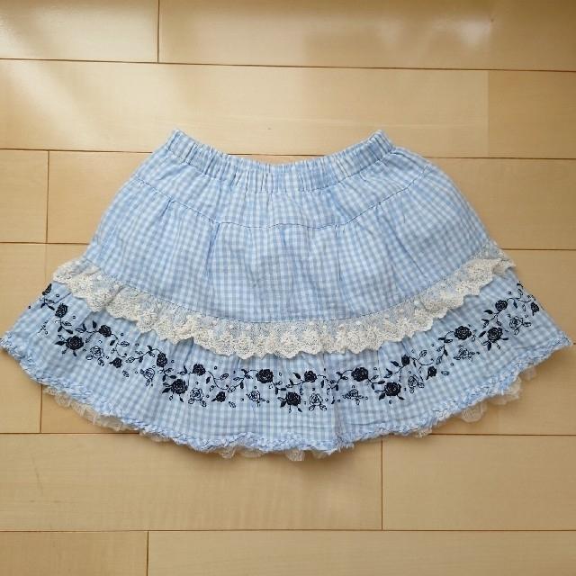 axes femme(アクシーズファム)のアクシーズファムキッズ ワンピース&キュロットスカート2点 トータル3点セット キッズ/ベビー/マタニティのキッズ服女の子用(90cm~)(ワンピース)の商品写真