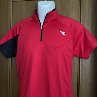 ディアドラ(DIADORA)のディアドラ メンズ テニス ゲームシャツ M 赤(ウェア)
