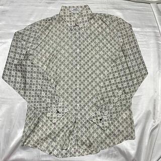 Hermes - エルメス HERMES シルク シルクシャツ 柄シャツ シルク100%