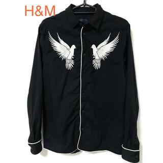 エイチアンドエム(H&M)の[未使用品] H&M バード刺繍 デザインシャツ(シャツ)