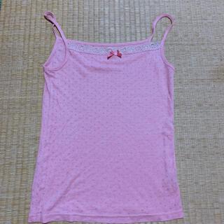 ジーユー(GU)のGU ピンク キャミソール Sサイズ H&M(キャミソール)