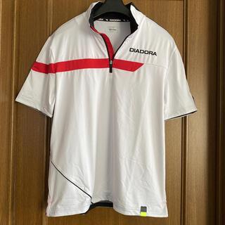 ディアドラ(DIADORA)のディアドラ メンズ テニス ゲームシャツ M 赤ライン(ウェア)