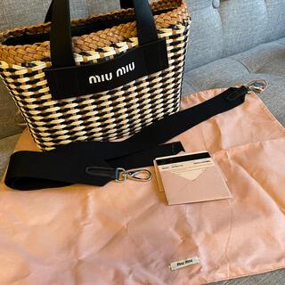 miumiu - miumiu 編み込みハンドバッグ  超美品