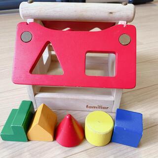 ファミリア(familiar)のファミリア  型はめ 積み木 つみき パズル 木のおもちゃ(知育玩具)
