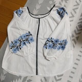 イエナ(IENA)のsimplicite 刺繍フラワーバルーンブラウス(シャツ/ブラウス(長袖/七分))