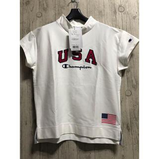 Champion - 新品チャンピオン モックネックシャツ ゴルフウェア レディースLサイズ 白