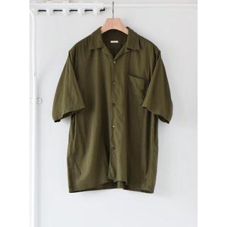 COMOLI - 【21ss/新品】comoli ベタシャン オープンカラーシャツ サイズ 1