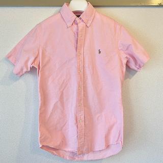 POLO RALPH LAUREN - 【美品】Polo 半袖ボタンシャツ ライトピンク M