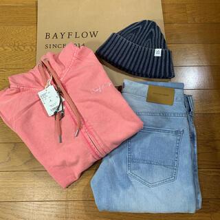 BAYFLOW - 新品!bayflow デニム パーカー キャップ indigo