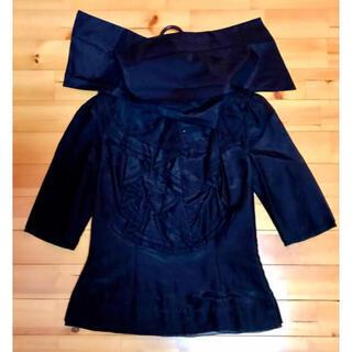 クロエ(Chloe)のクロエ シルクブラウス黒(シャツ/ブラウス(半袖/袖なし))