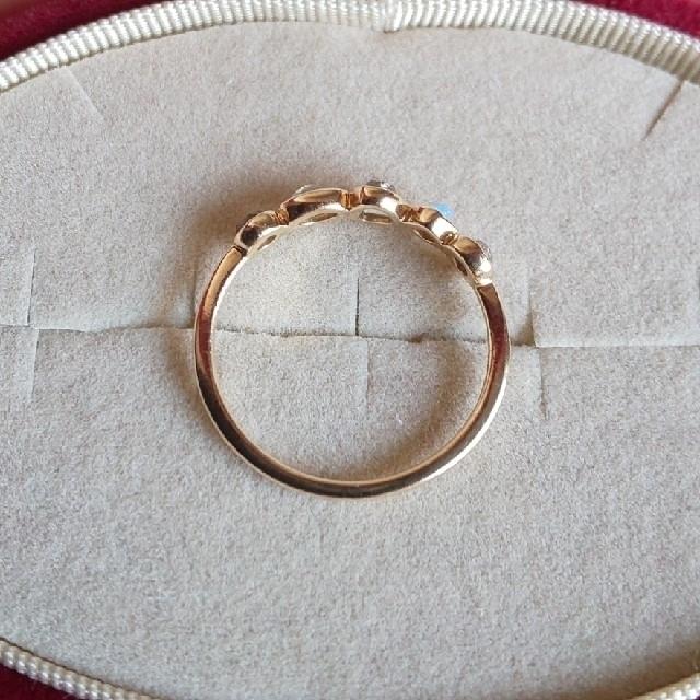 agete(アガット)のagate K10 天然石 リング アガット レディースのアクセサリー(リング(指輪))の商品写真