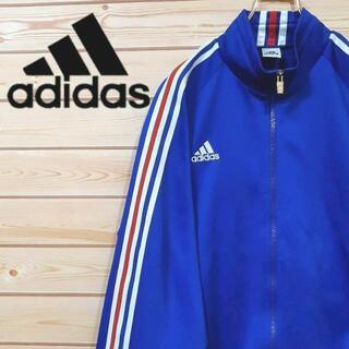 アディダス(adidas)のアディダスadidas トラックジャケット ジャージブルー 刺繍ロゴ 青(ジャージ)