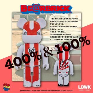 MEDICOM TOY - MEDICOM TOY LBWK ベアブリック リバZ君 100%+400%