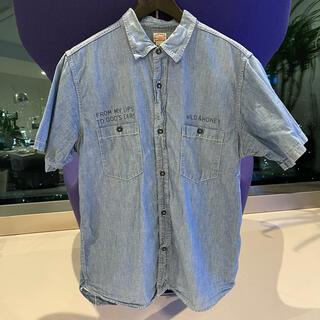 クーティー(COOTIE)のCOOTIE クーティー デニムシャツ 美品半袖シャツ Tシャツ 帽子 キャップ(シャツ)