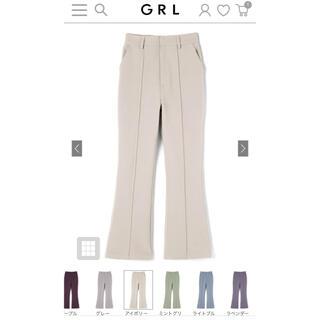 GRL - 新品タグ付きGRL フロントタックフレアパンツ
