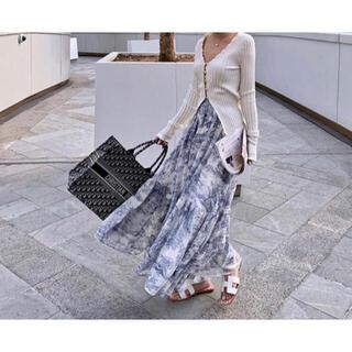 Christian Dior - アニマル柄 トワルドゥジュイ ロングスカート
