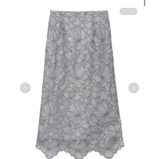 FRAY I.D - フレイアイディー シアーラメフラワーレーススカート