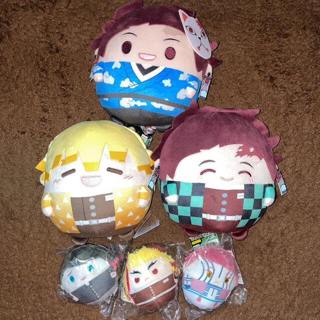 BANDAI(バンダイ)の鬼滅の刃 ぬいぐるみセット エンタメ/ホビーのおもちゃ/ぬいぐるみ(キャラクターグッズ)の商品写真