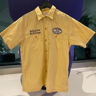 クーティー(COOTIE)のCOOTIE クーティー イエローストライプシャツ Tシャツ 帽子 美品キャップ(シャツ)