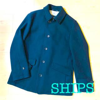 シップス(SHIPS)の美品シップス SHIPS コート ステンカラー メルトン ウール(ステンカラーコート)