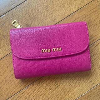 miumiu - miumiu ミュウミュウ 三つ折り財布