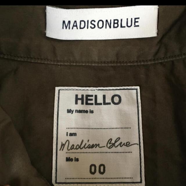 MADISONBLUE(マディソンブルー)のマディソンブルー シャツ カーキ カフシャツ 00サイズ レディースのトップス(シャツ/ブラウス(長袖/七分))の商品写真
