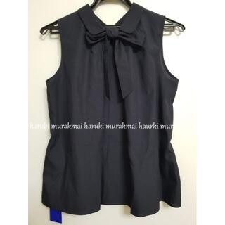 バーバリーブルーレーベル(BURBERRY BLUE LABEL)の新品タグ付き ブルーレーベルクレストブリッジ ネイビー シャツ 2way(シャツ/ブラウス(半袖/袖なし))