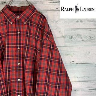 Ralph Lauren - 《激レア》ラルフローレン ゴルフ ワンポイント刺繍 タータンチェック BDシャツ