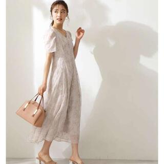 プロポーションボディドレッシング(PROPORTION BODY DRESSING)の『新品』バックシャン楊柳刺繍ワンピース(ロングワンピース/マキシワンピース)