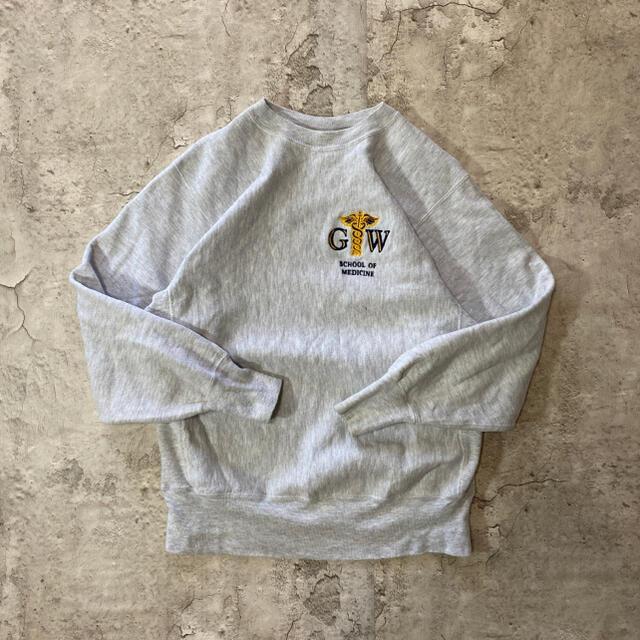 Champion(チャンピオン)の【希少】90s チャンピオン リバースウィーブ カレッジロゴ 霜降り 刺繍 メンズのトップス(スウェット)の商品写真