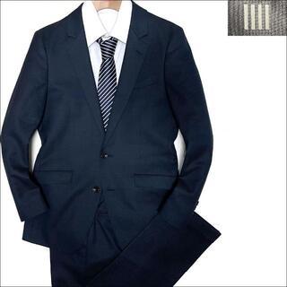 スーツカンパニー(THE SUIT COMPANY)のJ5199 美品 スーツセレクト ホップサック スキニー スーツ 紺 Y4(セットアップ)