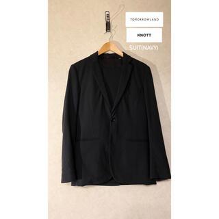 トゥモローランド(TOMORROWLAND)の【TOMORROWLAND】【KNOTT】スーツ(ネイビー)(セットアップ)
