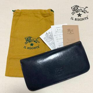 IL BISONTE - IL BISONTE ロングウォレット 長財布  ネイビー  紺色  イタリア製