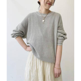 L'Appartement DEUXIEME CLASSE - L'Appartement  LINEN BOYS KNIT  ベージュ