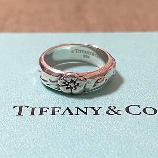 Tiffany & Co. - ティファニー ハイビスカス 花 フラワー リング スターリングシルバー925