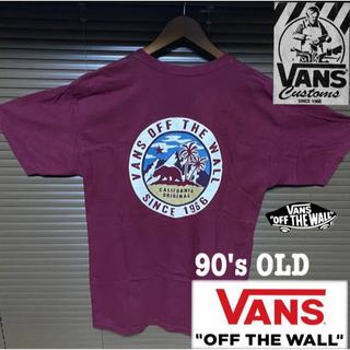 VANS - 美品 90s old vans Mexico製 tee log USボディー