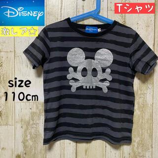 Disney - 美品☆ TDL購入 ミッキー ボーダー 半袖 Tシャツ 即日発送  ディズニー