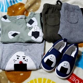 UNIQLO - ミモランド おにぎりTシャツ2枚と靴&ユニクロ レギンス2枚セット
