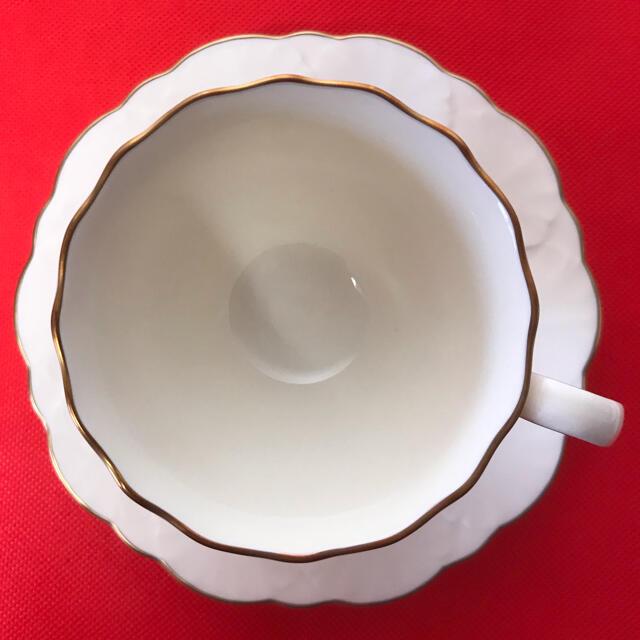 Noritake(ノリタケ)の[新品 未使用] ナルミ ヘリオス ボーンチャイナ ペア カップ&ソーサー インテリア/住まい/日用品のキッチン/食器(グラス/カップ)の商品写真