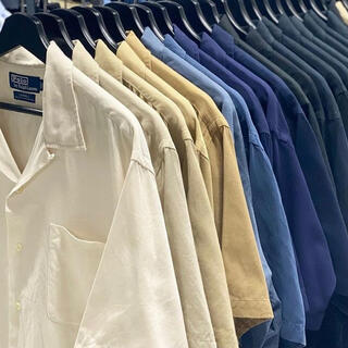 POLO RALPH LAUREN - 90s Polo Ralph Lauren 完全無地 白 オープンカラーシャツ