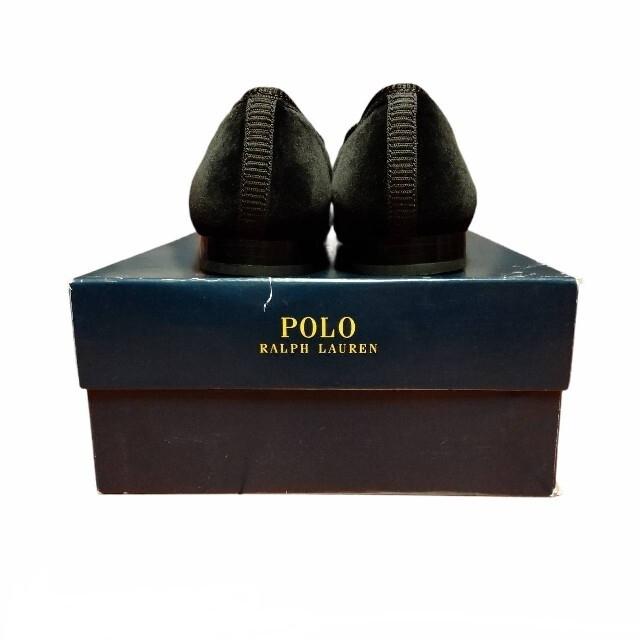 POLO RALPH LAUREN(ポロラルフローレン)の【未使用品】POLO Ralph Lauren ベルベットスリッポン ブラック メンズの靴/シューズ(スリッポン/モカシン)の商品写真
