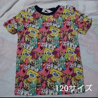 エイチアンドエム(H&M)の新品 スポンジボブ 総柄Tシャツ  120サイズ パトリック ゲイリー(Tシャツ/カットソー)